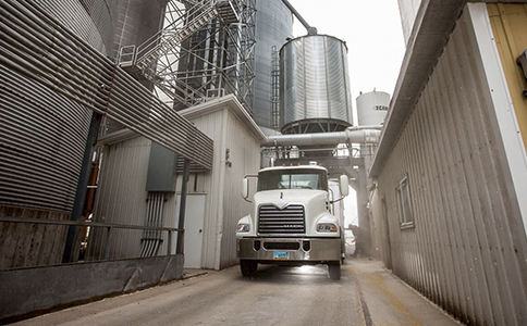 Grain Truck at Facility