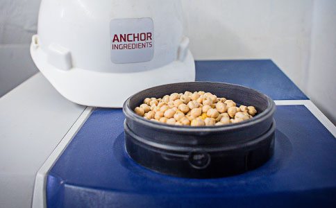 Chickpeas and hard hat