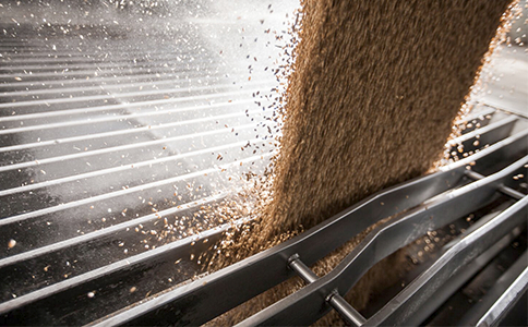 Grain Pouring Through Grate