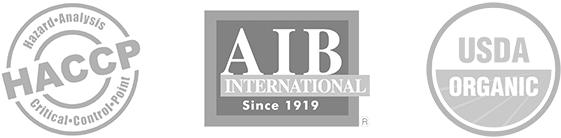 Certifications - HACCP | AIB International | USDA Organic